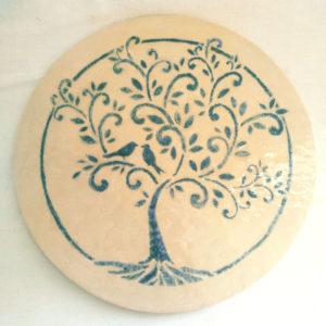 Dessous de plat arbre de vie turquoise