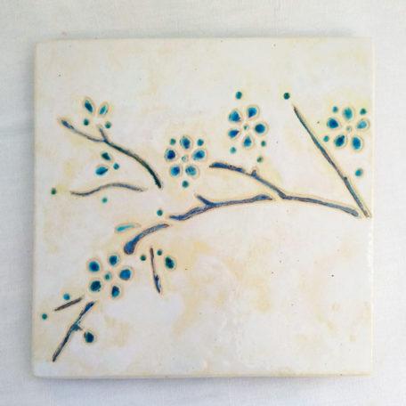 Dessous de plat cerisier bleu