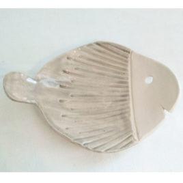 Porte Savon poisson gris