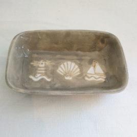 Porte savon gris marins